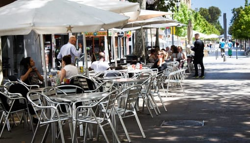 Imagen de terraza de restaurante en Barcelona