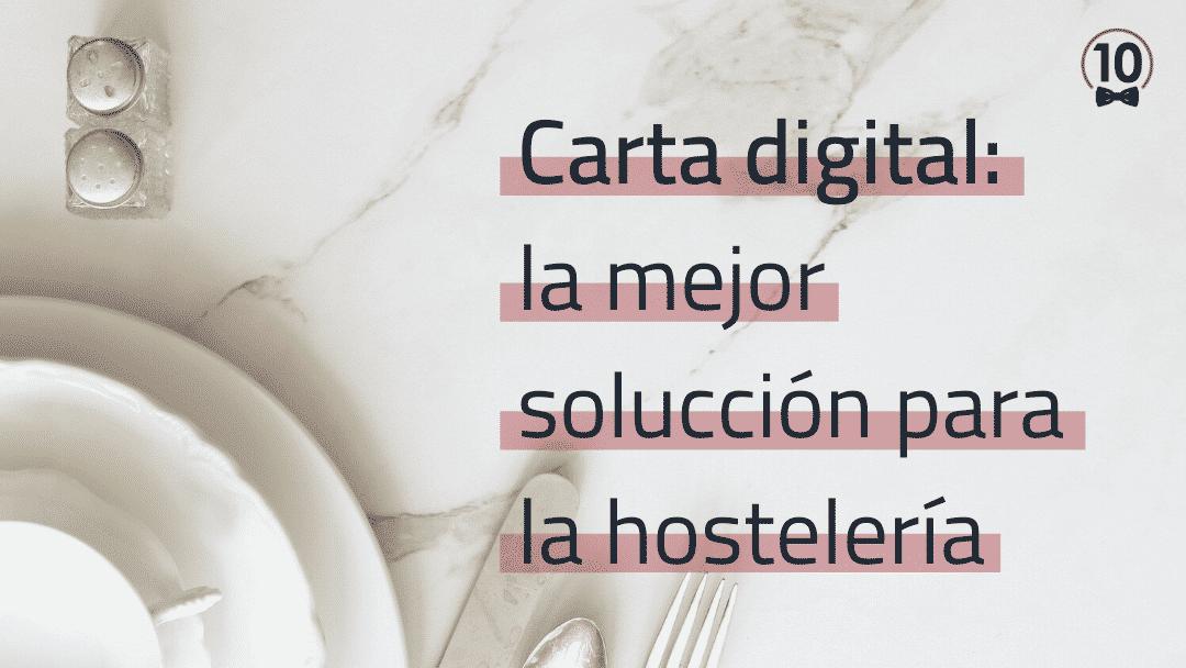 Carta digital para bares y restaurantes