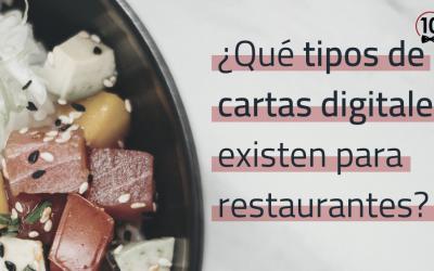 TIPOS DE CARTA DIGITAL PARA BARES Y RESTAURANTES