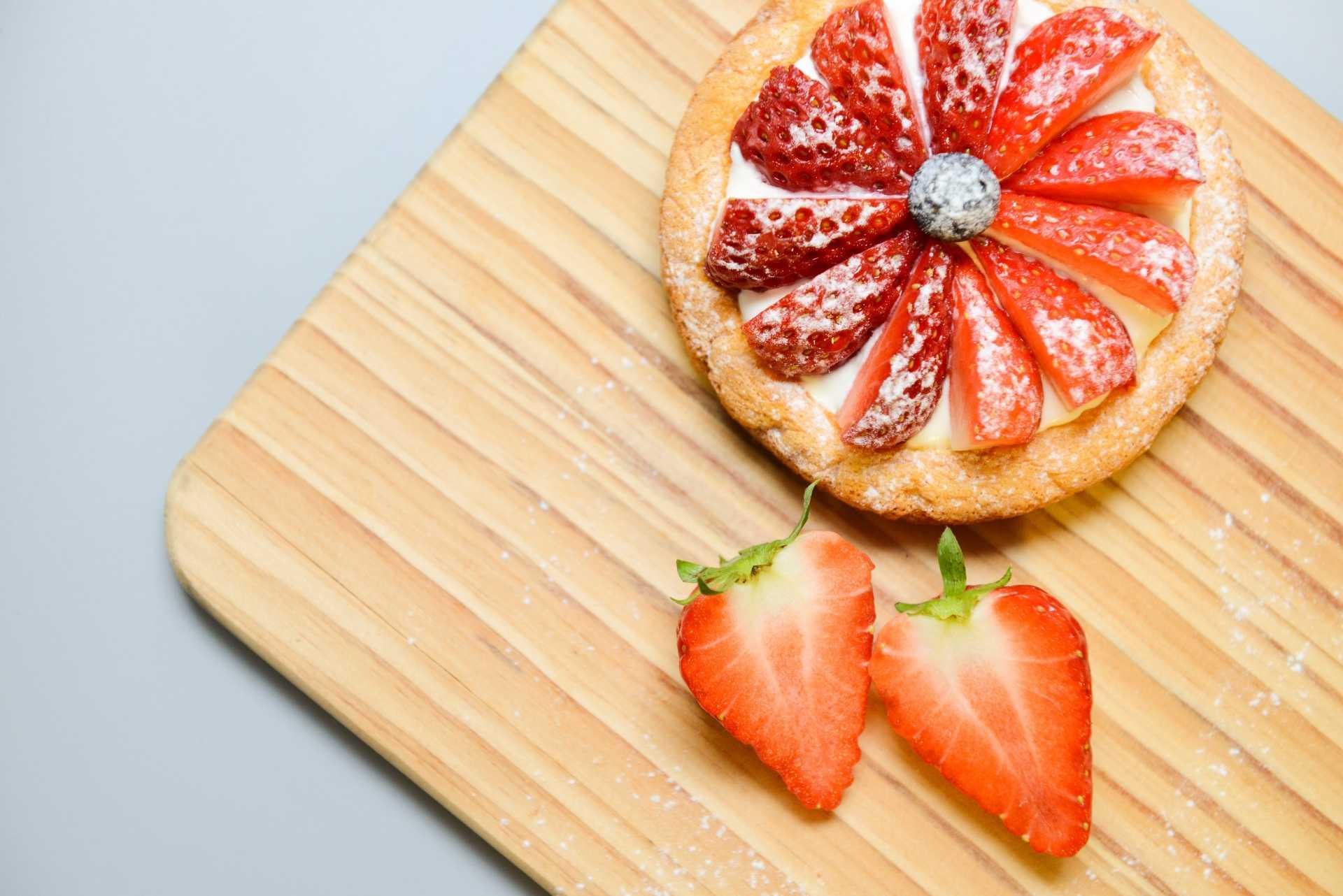 Tartaleta de queso y fresas