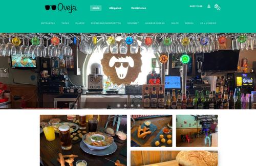 Página web para restaurantes del cliente de Camarero10 la Oveja Albox