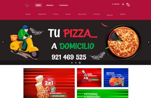 Página web para restaurantes del cliente de Camarero10 Pizza and Beer