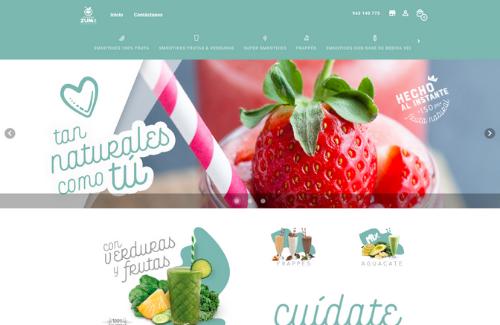 Página web para restaurantes del cliente de camarero10 Zumit