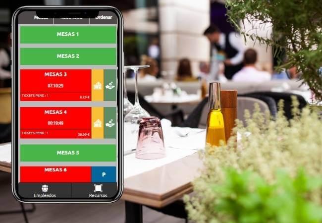 Móvil Samsung con pantalla de colores