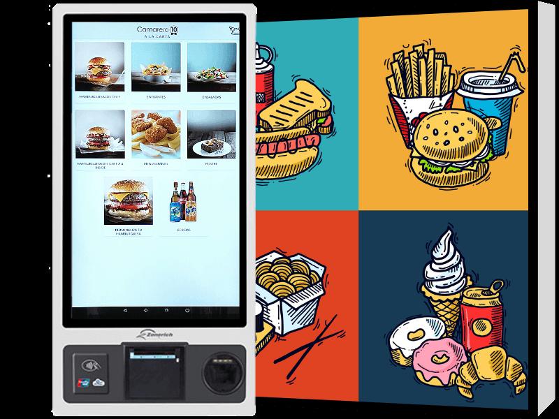 Agiliza el sistema de pedidos en tu restuarante de comida rápida con un Kiosko de autopedido