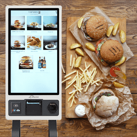 Software Kiosco de Autopedido integrado con tu sofware TPV Camarero10. La solución más eficaz y rápida para mejorar tus pedidos en restaurantes de comida rápida.