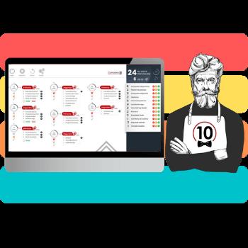 software para cocinas con comandas digitales en pantalla enviadas directamente desde el comandero o desde el tpv.