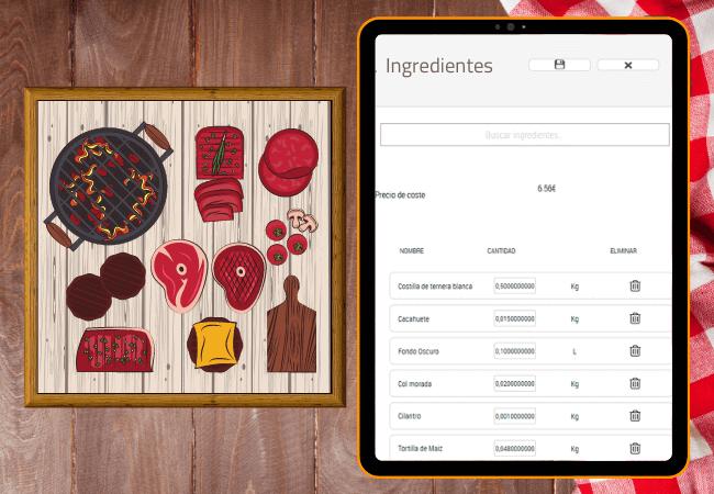 Pantalla táctil para cocina con modulo kitchen de camarero10 dónde podrás mandar las comandas en tiempo real para una gestión más eficiente