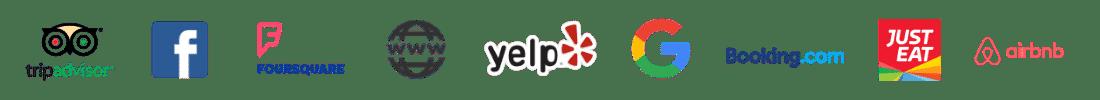 Logos de los canales de la plataforma listing