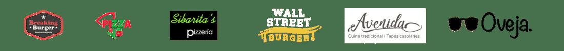 logos de clientes con páginas web para restaurantes hechas por Camarero10 versión móvil