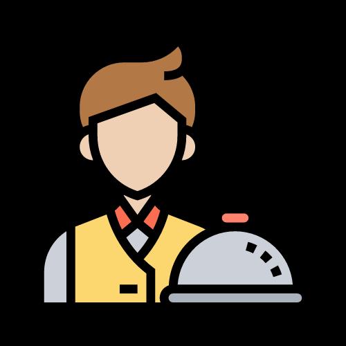 imagen camarero con plato de comida