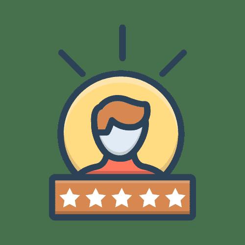 imagen cliente con cinco estrellas