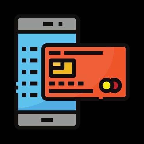imagen móvil con tarjeta de crédito
