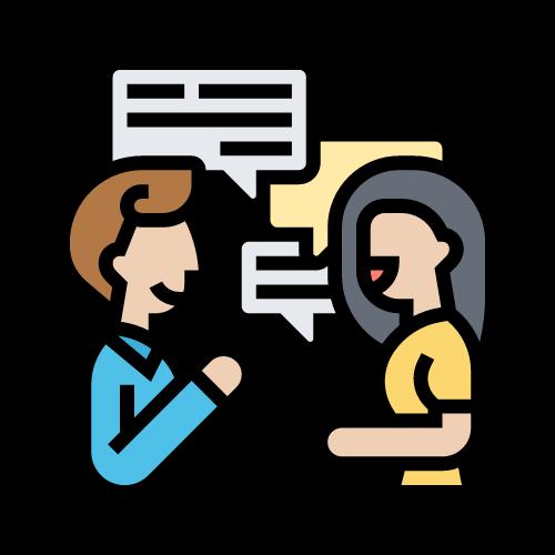imagen comunicación entre dos personas