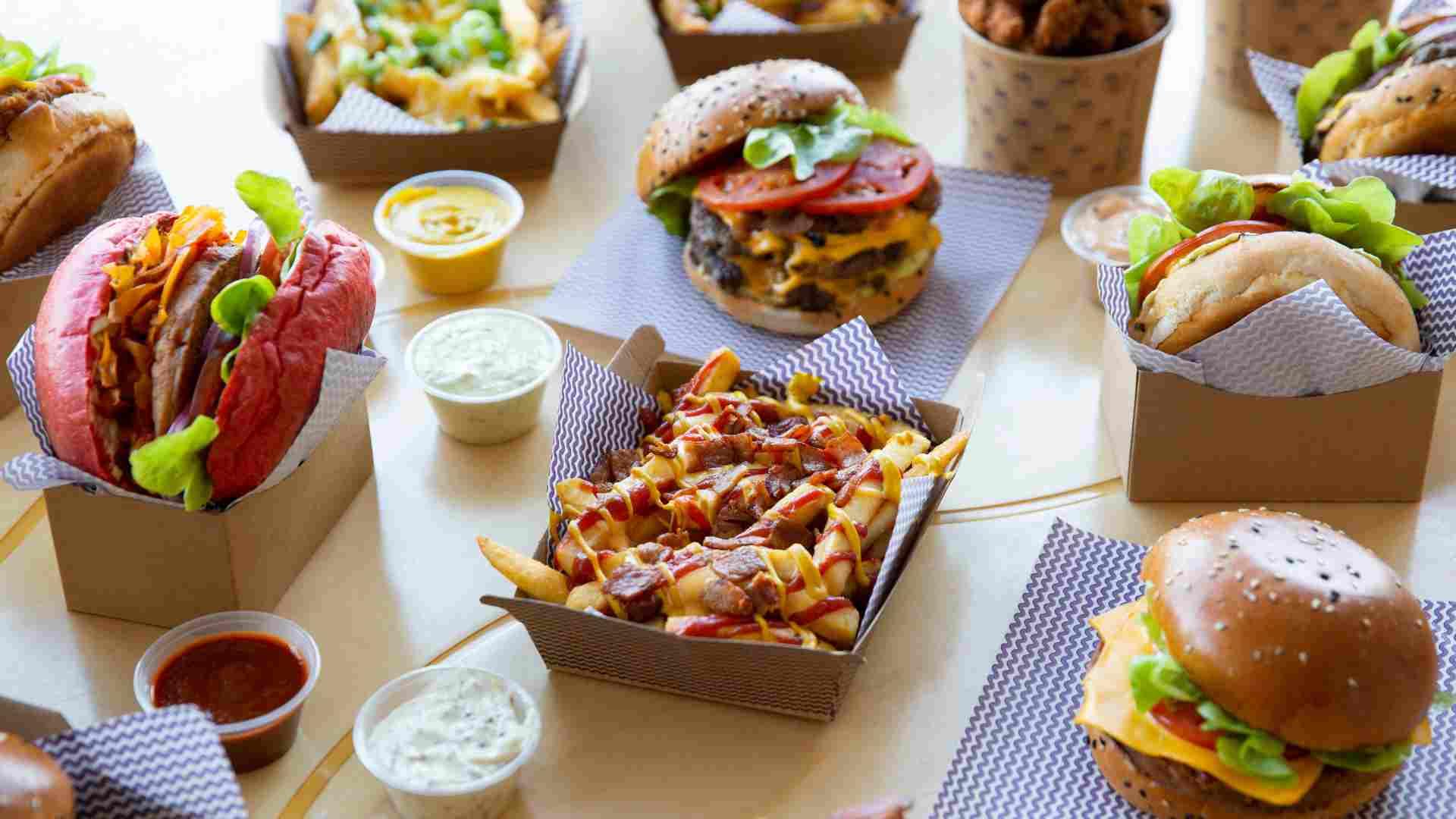 Food service en productos fast food