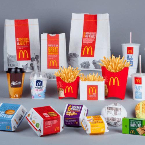 imagen del packaging de la empresa McDonalds