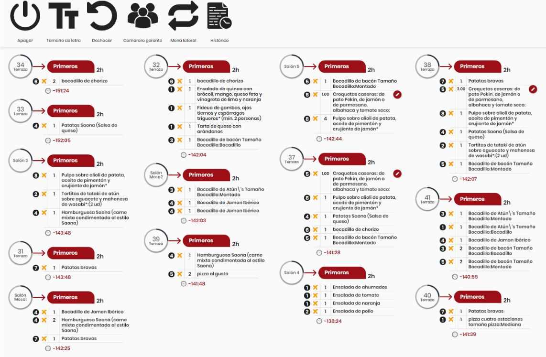 Monitor digital de cocina para bares y restaurantes