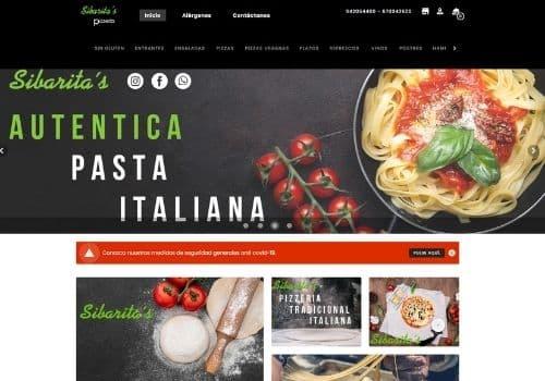 pagina de pedidos online de pizza sibaritas para restaurantes cliente de camarero10 tpv