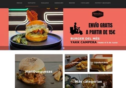 pagina de pedidos online para restaurantes de yakka and grill cliente de camarero10 tpv